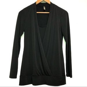 Thyme Nursing Long Sleeve Blouse Black Small